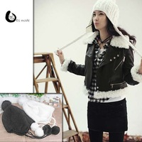 2014 Hot Sale Korean Fall Winter Style lady Ear Cap Woolen Knitted Hat Free Shipping