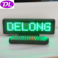 P6mm 7X35pixel DIP semi-outdoor green moving led word sign board with remote control,free shipping to USA and Canada