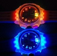 Shine watch,jelly watch,odm watch,round high-quality  20pcs for Free Shipping