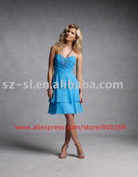 Cheap sweetheart bridesmaid dress chiffon 2011 SL-4539