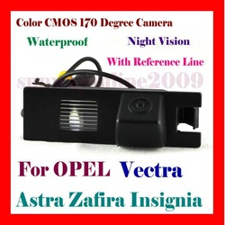 CAR REAR VIEW REVERSE BACK COLOR CMOS/WATERPROOF/170 DEGREE/NIGHT VISION CAMERA FOR OPEL Vectra Astra Zafira Insignia Regal 09(China (Mainland))