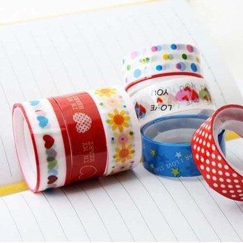 wholesale cartoo tape Hot Korea Cartoon Adhesive Tape Sticker,200 pcs/lot Free Shipping!