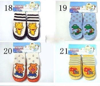 free shipping wholesale 50 PCS Cartoon sheepskin edge children baby thickening floor sox antiskid socks