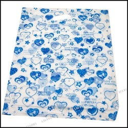 150pcs/lot Blue Heart Plastic Packing Bags,Plastic Shopping 44*36cm 120190(China (Mainland))