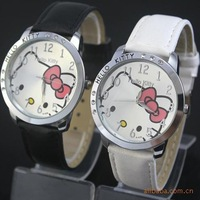 DHL Free Shipping 50pcs/lot Fashion Hello Kitty Watches ladies Girls Womans Quartz Watches #112