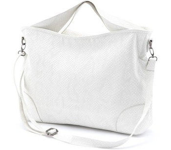 2011 New Discount Women's Fashion Crocodile Skin Texture Handbag Tote Bag Shoulder Bag White Wholesale