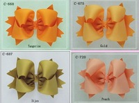 "4"" Girl hair bows attached clip Hair Accessories Baby hair bows Baby hairs clip grosgrain ribbon bows many colors can mix"