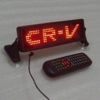 12V 7X35pixel red indoor led auto light with remote control,English,Russian,Spanish,free shipping to USA and Canada