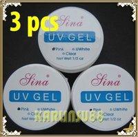 FREE SHIPPING 3 pcs PINK Color Builder Gel UV Nail Art Manicure K305