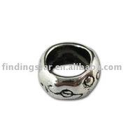 FREE SHIPPING 150pcs Tibetan silver circle european bead fit for charm bracelets A11272