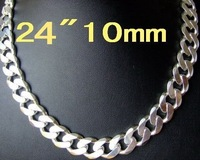 Wholesale fashion 925 silver beautiful new big chain necklace pendant Super price !Free Shipping  LN196