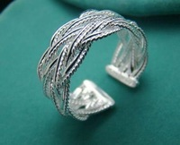 Wholesale fashion 925 silver beautiful new net ring size 8 +box Super price !Free Shipping with brand LR7