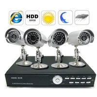 Freeshipping 4 Channel Remote Control DVR Systems, Complete 4CH DVR Kit with 500GB HDD