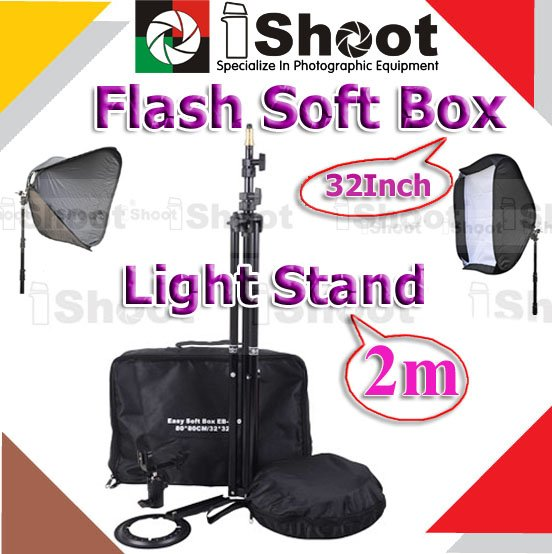 NEW ARRIVAL!! Multifunctional Light Tripod Stand + Studio Flash Softbox Soft Box Diffuser &gt;&gt; Professional Photography *KIT*(China (Mainland))