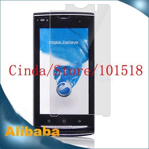 Frete grátis & 100pcs / lot protetor de tela clara para Sony Ericsson XPERIA A8i(China (Mainland))
