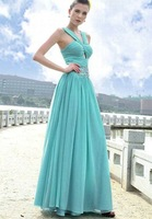 Empire mermaid style floor length sleeveless beading  wedding dress gown prom evening bridesmaid dress gown 28
