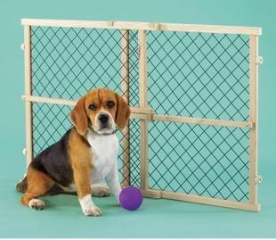 Free Shippment!Export US market/PETSMART Wire mesh Pet Dog gate / pet isolation door /dogs fence /dog gate/58H *66~~106CM(China (Mainland))