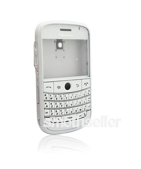 Free shipping + Full White Housing Case Cover + Keypad FOR Blackberry 9000 BOLD
