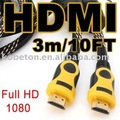 3M 10FT HDMI Male Cable Gold 1080P Cord HDTV HD TV, Best Free Drop Shipping