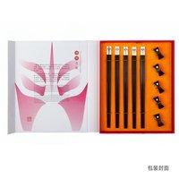Elegant gift /Free Shipping / Beijing Opera People Face Chopsticks set/ Chinese Chopsticks set/ 5 pairs per set
