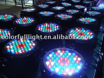 54 pcs 1w RGBW LED waterproof par can light with 4 colors