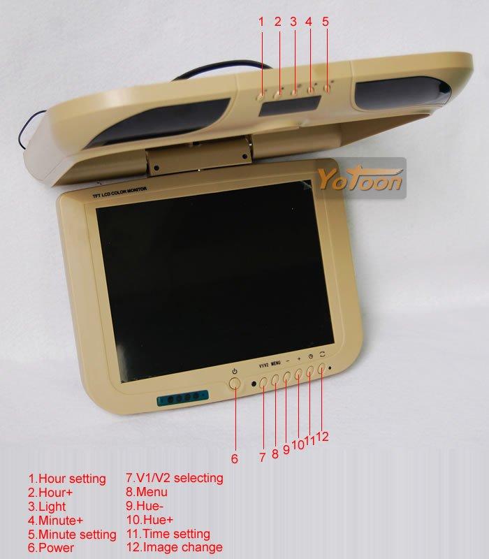 "10.4"" LCD Flip Down Ceiling Car Monitor(China (Mainland))"