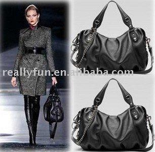 Wholesale High Fashion PU Leather Handbags,Lady's Fashions Black Handbags
