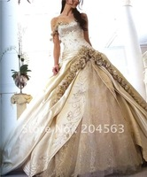 Свадебное платье Designer Off-Shoulder taffeta Wedding Gown With Scoop Neckline any size/color /retail