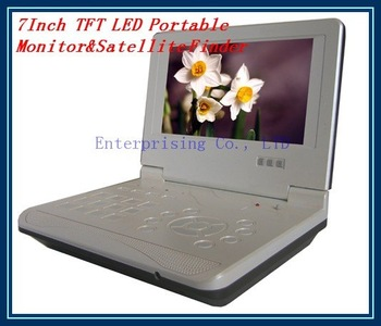 Free Shipping, 7Inch TFT LED Portable Monitor&Satellite Finder KPT928