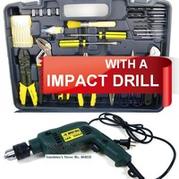 64pcs in 1 practical Vehicle Tool Set with Impact Drill, Fast SHIPPING!