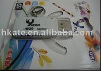 free shipping 50pcs/lot Mini USB 2.0 micro sd /SD/mini/ms card reader usb+TF/Micro SD Adapter msm001