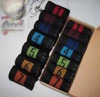 Free Shipping 7pcs/lot Novelty Socks 7 days Week Socks For Men & Women Cotton Week Design Socks Gift