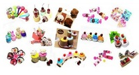 Cute Cake Towel As Birthday Valentine Day Gift Mix Styles 25pcs/lot & Free Shipping