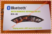 Bluetooth handsfree car kit,playing mobile's MP3 music via car audio,with a free lithium-battery best quality