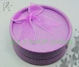 FREE SHIPPING! MIX COLOR! PUR-SIZE 53MM 60PCS ribbon butterfly round jewellery box for packing earrings necklac rings small gift(China (Mainland))