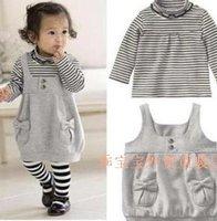 babay/toddler/infant/baby/kids clothes set skirt skirts sets T shirt+skirt 2 pcs set -free shipping