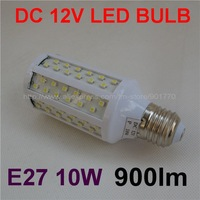 DC 12V 10W 108SMD 3528  E27 900lm white LED bulb for Solar panel NICE BULB FAST SHIPPING 20pcs/lot