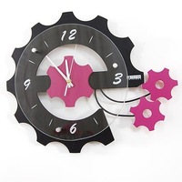 EMS free shipping wholesale and detail Europe fashion design wall clock/ gear clock/ clock