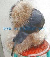 Classic Raccoon dog fur Hat With High Quality ; Raccon Fur Hat;fur hat