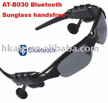 free shipping 10pcs/lot Cool Sun Glasses Bluetooth handsfree Earphone Sunglasses+Free Bag  for iphone  AT-B030