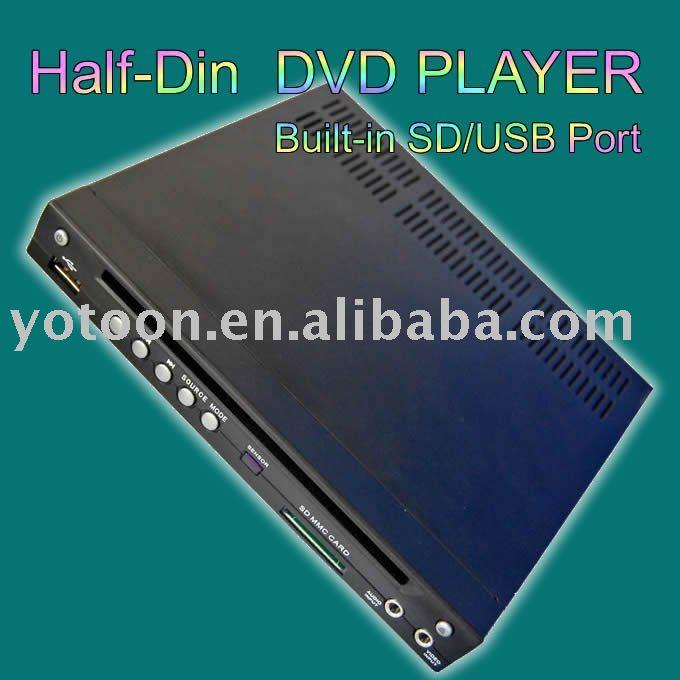 Shenzhen Car HALF DIN DVD/CAR 1/2 DIN In-Dash DIVX/MP3/CD/DVD Player+USB/SD Slot CAR HALF-DIN DVD CAR 1/2 DIN DVD(China (Mainland))