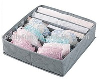 7 compartments bamboo charcoal underwear storage box,bra storage box, 10pcs/lot