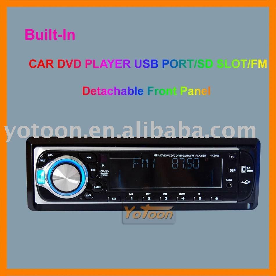Yotoon Manufacture - Singel Din Detachable Front Panel CAR DVD/CD/MP3/USB/SD CARD AM/FM PLAYER+AUX INPUT(China (Mainland))