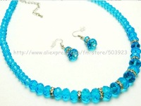 Free shipping earrings+necklace   ,(6sets)  wholesale and retail