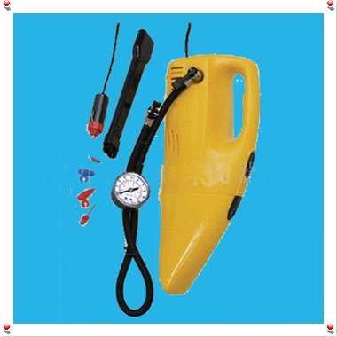 Car Auto Vacuum Cleaner 12V Air Compressor Tire Inflator - sample(China (Mainland))