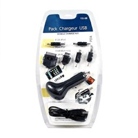 10 pcs/lot Universal USB Car charger kit For mobile phone PDA PSP #131