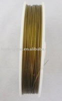 FREE SHIPPING 1ROLL 100 M Golden Tiger Tail Beading wire 0.45mm M80