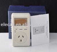 Hot Sale free shipping  2pcs/lot 220V  energy monitoring meter, multifunction meters, power indicating meter- Austrilian plug