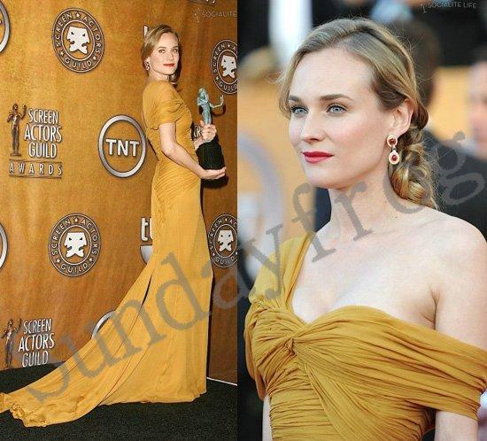 Diane Kruger Screen Actors Guild SAG Red Carpet Celebrity Dresses One