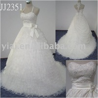 JJ2351 Drop Shipping Rufled Lace Ball Gown Wedding Dress